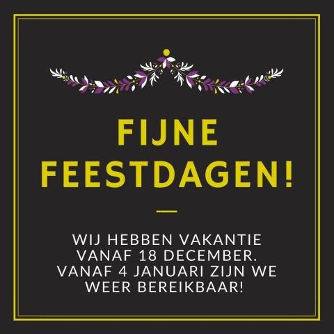 Flyer waarop de kerstvakantie van CVVE is weergegeven
